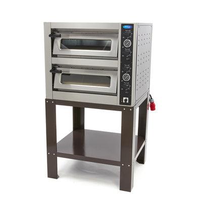 Maxima Deluxe Pizza Oven 4 + 4 x  25 cm Dubbel Onderstel