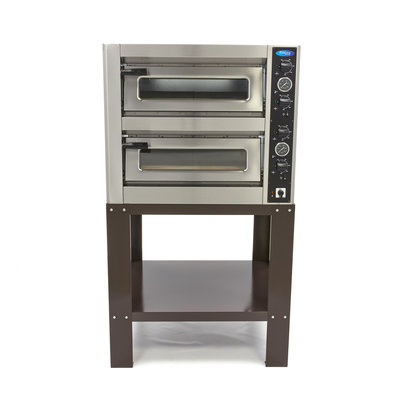 Maxima Deluxe Pizzaofen 4 + 4 x 25 cm Doppelt Gestell