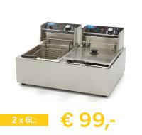 professionele elektrische friteuse 12 liter