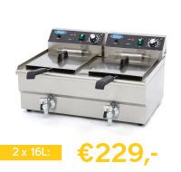 professionele  elektrische friteuse 32 liter
