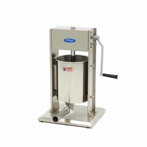 Maxima Remplissage de Saucisse 10L - Vertical - Inox - 4 Tubes de Remplissage
