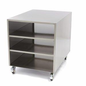 Maxima Acier inoxydable Table de machine / Base sur roues 60 x 80 cm