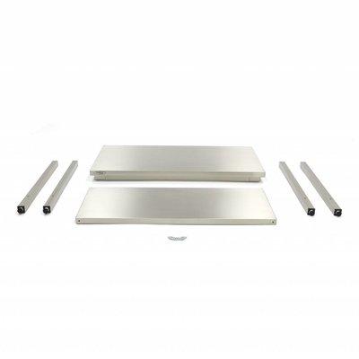 Maxima Roestvrijstalen Werktafel 'Deluxe' 800 x 600 mm