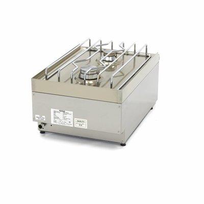 Maxima Commercial Grade Kochfeld - 2 Brenner - Gas - 40 x 60 cm