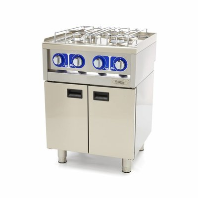 Maxima Commercial Grade Cooker - 4 Burners - Gas - 60 x 60 cm