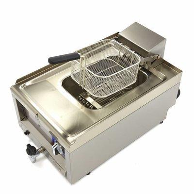 Maxima Commercial Grade Fritteuse 1 x 10L - Elektrisch - 40 x 60 cm mit Wasserhahn