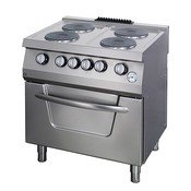Maxima Heavy Duty Stove - 4 Burners - Including Oven - Electric