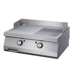 Maxima Heavy Duty Griddle 1/2 Grooved Chrome - Double - Electric