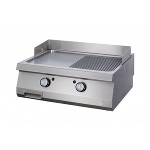 Maxima Heavy Duty Plancha 1/2 Rainuré - Double - Gas
