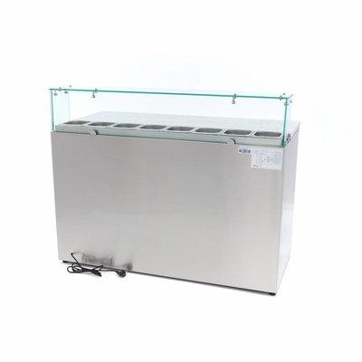 Maxima Pizzawerkbank / Pizzatafel / Pizza Saladette - 3 Deuren - Glas
