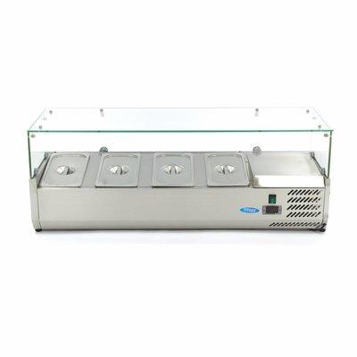 Maxima Opzetkoelvitrine / Gekoelde Opzetvitrine 120 cm - 1/3 GN