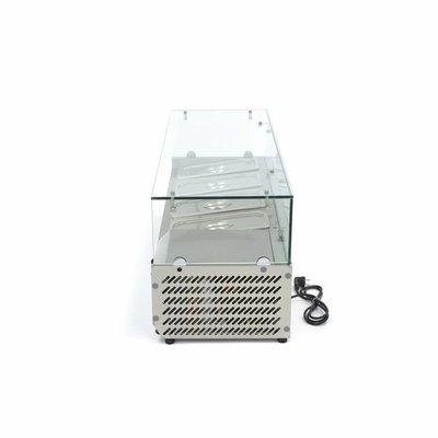 Maxima Aufsatszkühlvitrine / Gekühlte Aufsatzvitrine 120 cm - 1/3 GN