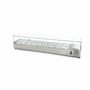 Maxima Vitrine Réfrigérée / Froide de Comptoir 200 cm - 1/3 GN