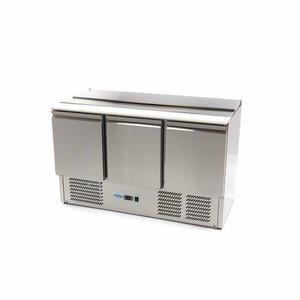 Maxima Kühltisch Saladette SAL903 SLT - 3 Türen