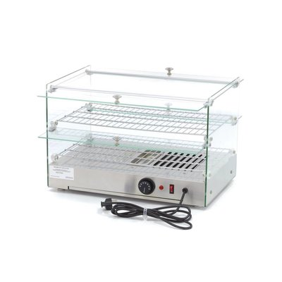 Maxima Stainless steel Warming Showcase - 2 Floors - 55 cm - 50 L