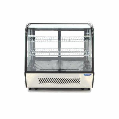 Maxima Luxus Kühlvitrine 120L Schwarz