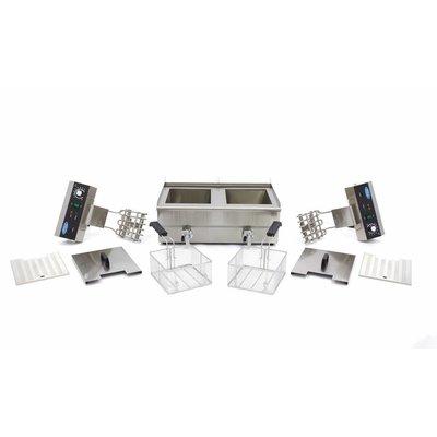 Maxima Horeca Friteuse / Frituurpan 2 x 16.0L Elektrisch met Tapkraan