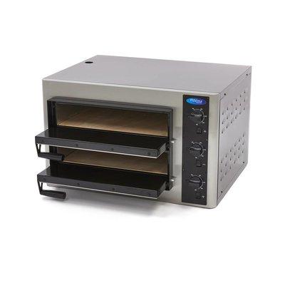 Maxima Deluxe Pizzaofen 4 + 4 x 25 cm Doppelt 400V