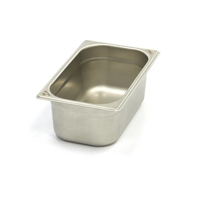 Maxima Gastronormbehälter aus Edelstahl 1/4GN | 100mm | 265x162mm