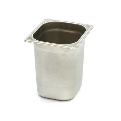 Maxima Gastronormbehälter aus Edelstahl 1/6GN   200mm   176x162mm