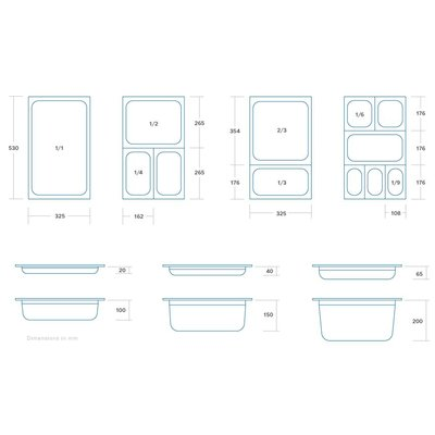 Maxima GN Behälter Gelocht aus Edelstahl 1/2GN | 150mm | 325x265mm