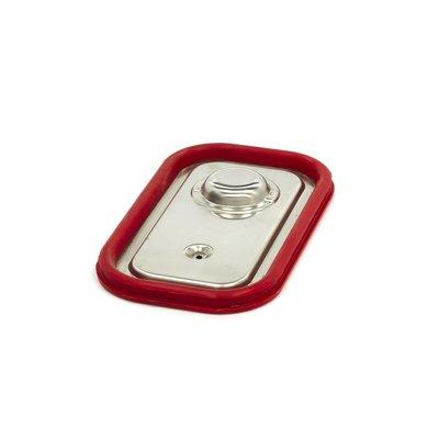 Maxima Gastronorm Deckel aus Edelstahl 1/4GN | Luftdichte Dichtung