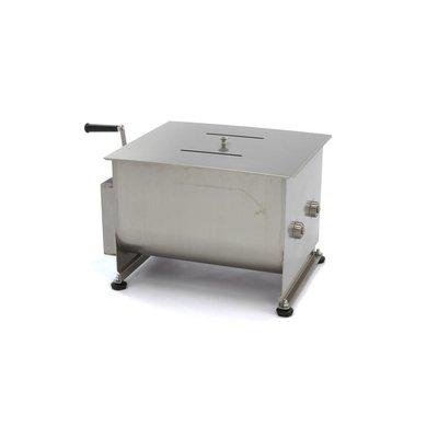 Maxima Handmatige Vleesmixer / Vleesmenger 40 Liter - Dubbele As