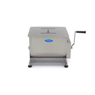 Maxima Handmatige Vleesmixer / Vleesmenger 30 Liter - Dubbele As