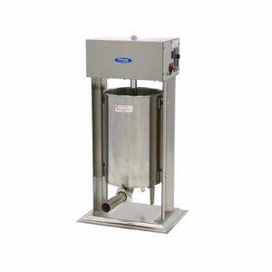 Maxima Automatique Remplissage de Saucisse 20L - Vertical - Inox - 4 Tubes de Remplissage
