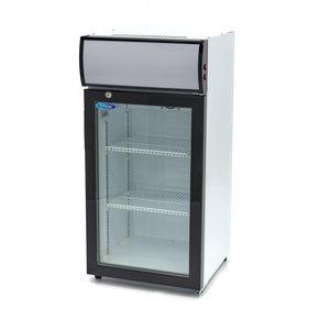 Maxima Affichage refroidisseur / Réfrigérateur à Bouteilles 80L