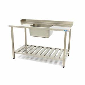 Maxima Spülmaschinen Tisch mit Spüle 1400 x 750 mm Rechts