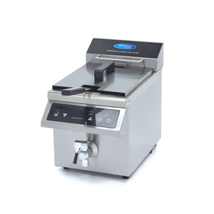 Maxima Induction Fryer / Induction Deep Fryer 1 x 8L with Faucet