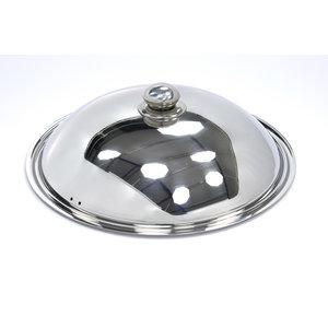 Maxima Couvercle de wok à induction en acier inoxydable