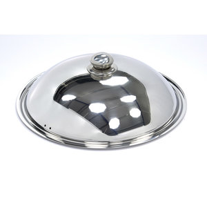 Maxima Stainless Steel Induction Wok Lid