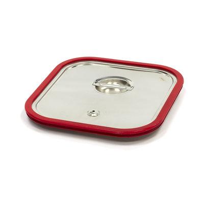 Maxima Gastronorm Deckel aus Edelstahl 2/3GN | Luftdichte Dichtung
