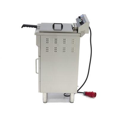Maxima Horeca Friteuse / Frituurpan 1 x 16L Elektrisch met Tapkraan en Onderstel