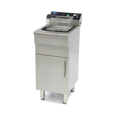Maxima Electric Fryer 1 x 16L with Faucet and Cupboard