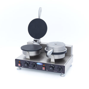 Maxima Waffle Iron Ice Cream Cone / Oublie Horn Maker - 2 pieces