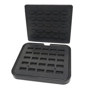 Maxima Tartlet Mould - Rectangle - 50x23/42x17 mm - 25 pieces