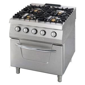 Maxima Premium Gas Stove - 4 Burners - Including Electric Oven