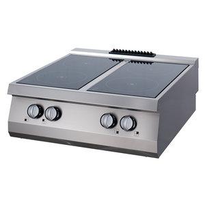Maxima Premium Infrarood Kookplaat - 4 Pitten - Elektrisch