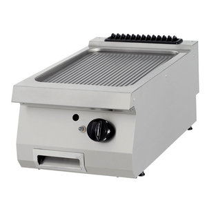 Maxima Premium Griddle Grooved Chrome - Single - Gas