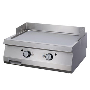 Maxima Premium Griddle Smooth Chrome - Double - Electric