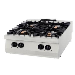 Maxima Premium Kookplaat - 4 Pitten - 40 kW - Gas