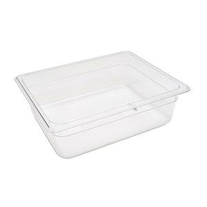 Maxima Gastronorm Container 1/2 GN - 10cm Deep - 32,5 x 26,5 cm - Polycarbonate