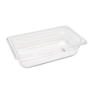 Maxima Gastronorm Bak Polycarbonaat 1/4 GN | 65mm | 265x162mm