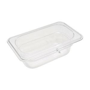Maxima Gastronorm Container 1/9 GN - 6,5cm Deep - 17,6 x 10,8 cm - Polycarbonate