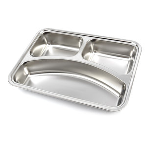 Maxima Plate - Stainless Steel - 3 Compartments