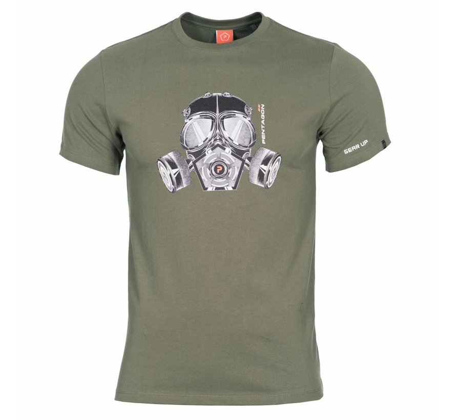 Gas Mask T-Shirt (Olive)