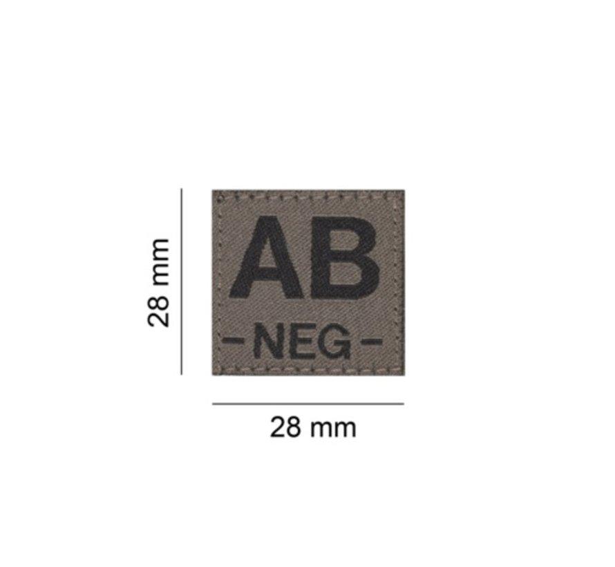 B NEG Bloodgroup Patch (RAL7013)